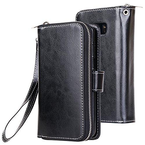 Galaxy S8 Case, E LV Galaxy S8 Case Cover – PU Leather Flip Folio Wallet Purse Case Cover for Samsung Galaxy S8