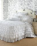 Be-you-tiful Home Helen Skirted Coverlet, King, White