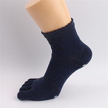 Maybesky Calcetines de Yoga de algodón Cinco Dedos ...