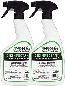 RMR-141 Disinfectant Spray Cleaner, Kills 99% of Household Bacteria and Viruses, Fungicide Kills Mold & Mildew, EPA Registered, 2-Pack of 32-Ounce Bottle