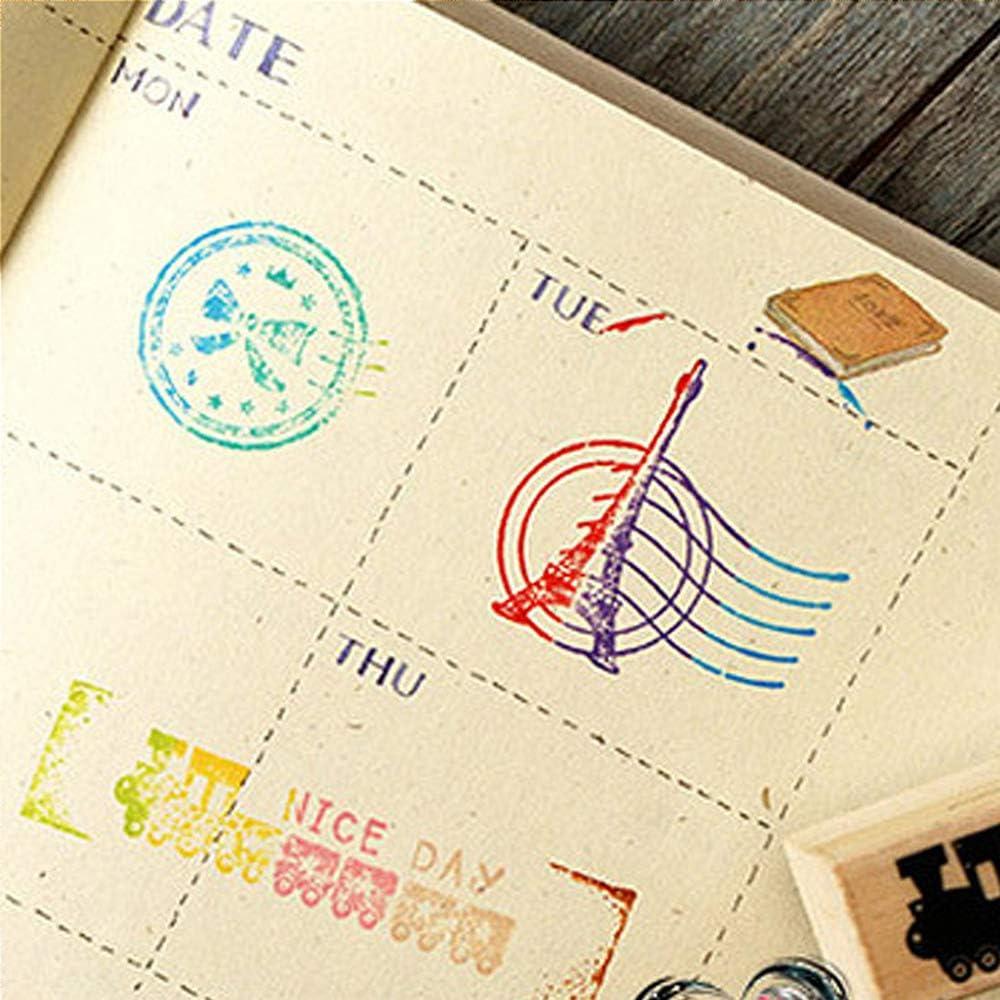 70pcs Alphabet Stamps Alphabet Letter Stamps Vintage Wooden Rubber Letter Number Symbol Stamp Set for Multipurpose DIY Diary Cards Stamps Craft(with Colorful Ink Pad)