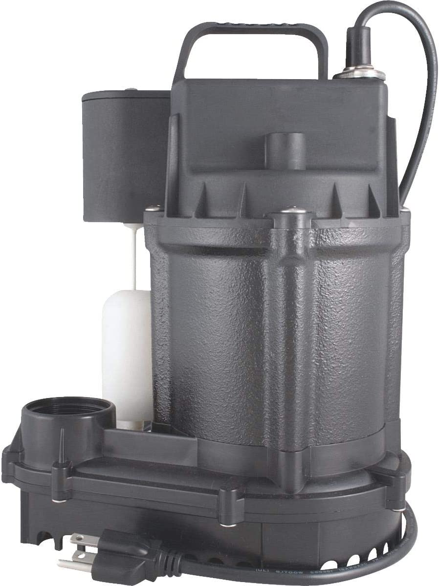 Flint Walling/Star 3SVS Cast-Iron Submersible Sump Pump, 1/3hp