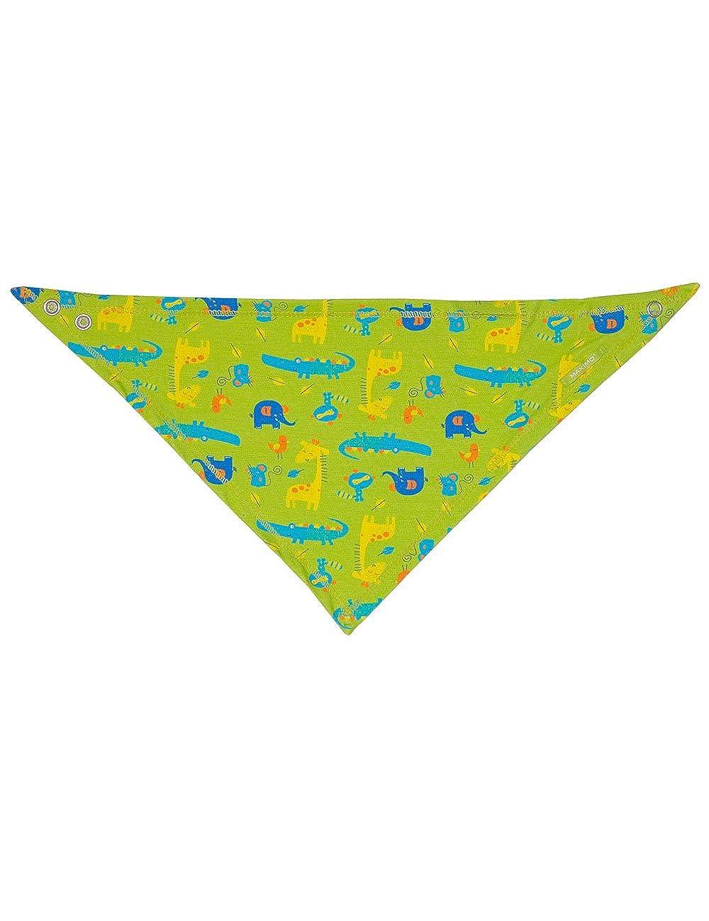 maximo Baby-Jungen Halstuch Dreiecktuch Tiere, Mehrfarbig (Jasmingrün/Blau 70), 1 85400-995400