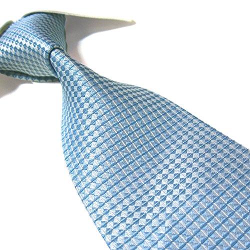 100% Silk XL Tie by Towergem,Blue Tie For men Extra Long Silk Necktie