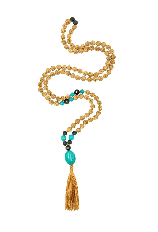Aum Rudraksha Designs Earth s Riches Rudraksha Mala, 108 Beads
