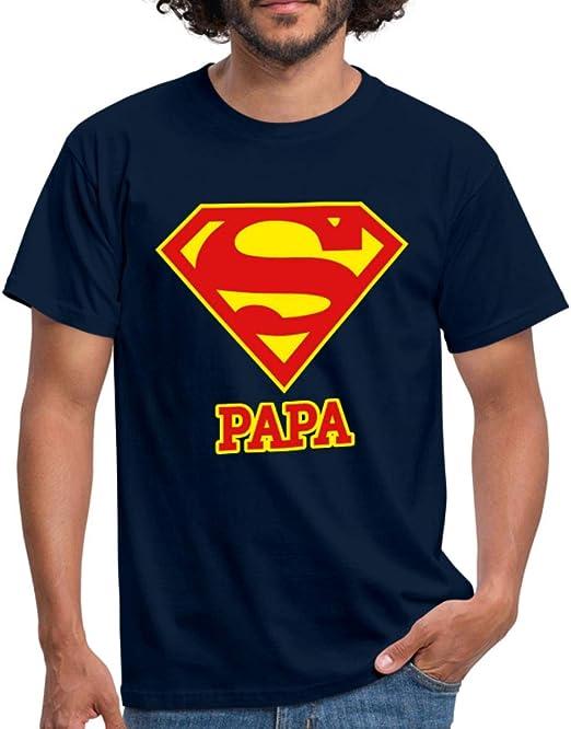Id/ée Cadeau F/ête des P/ères Solenzo Shirt Homme Super Papa Plusieurs Couleurs
