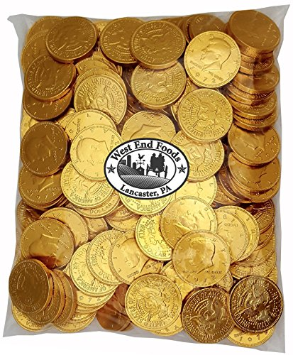 Bulk Milk Chocolate Gold Coins Candy (2 lb) for Kids