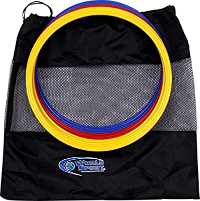 Set of 12 World Sport Speed Rings (4 Red / 4 Yellow / 4 Blue)