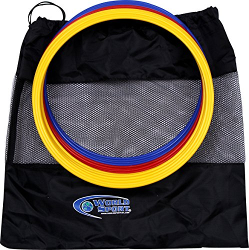World Sport Set of 12 12 Inch Speed Rings (4 Red/4 Yellow/4 Blue) by World Sport