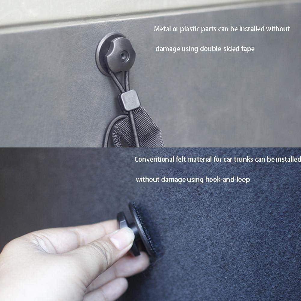 funny feng 4pcs Car Trunk Hooks Set No Punching Holes fit Net Hooks Mounting Point Set For Car Rear Cargo Trunk Storage Organizer