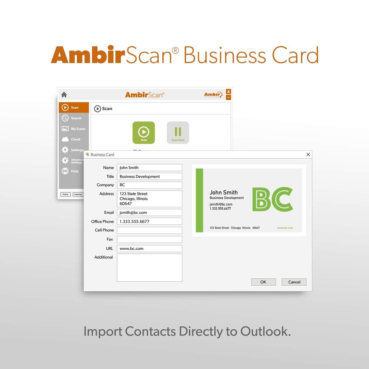 Ambir ImageScan Pro 687 Duplex Card Scanner with AmbirScan Business Card by Ambir
