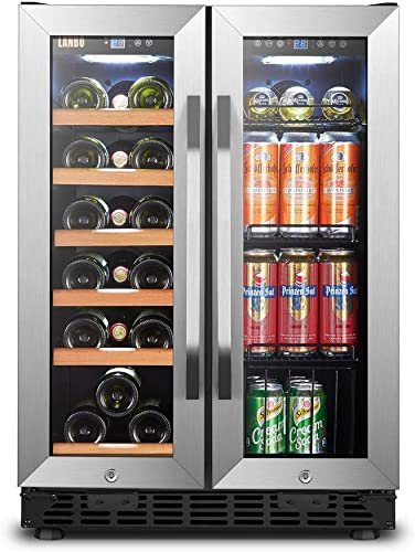 Lanbo-Wine-and-Beverage-Refrigerator,-Built-in-Wine-and-Drink-Center