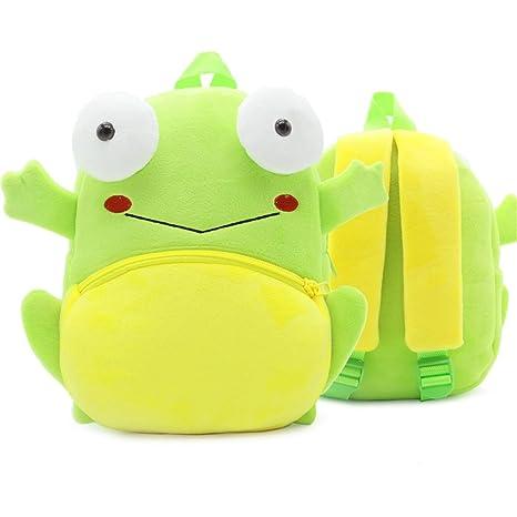 XLHMILY Mini dibujos animados 3D Mochila Infantiles Niños mochila animal rana unicornio mochila algodón de jardín