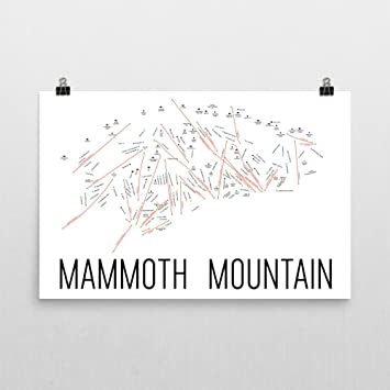 Amazoncom Mammoth Mountain Poster Mammoth Mountain Ski Resort - Mammoth mountain trail map