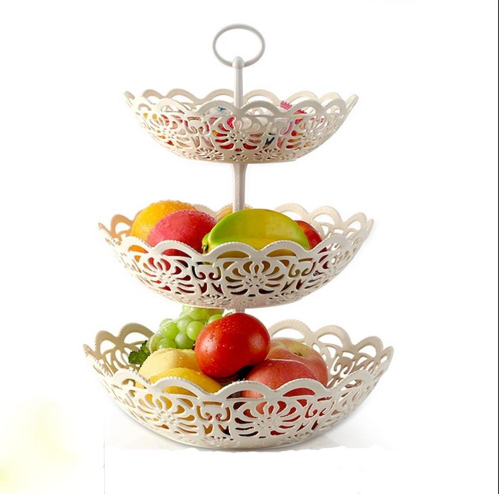 pengweiPiastra di frutta multistrato creativo di frutta piastra a tre strati di frutta