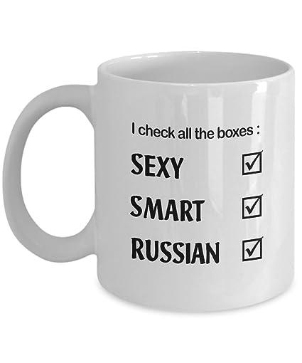 5a3b8d3c2ea8 Amazon.com  Sexy Smart RUSSIAN Coffee Mug - Funny RUSSIAN Gift Men ...
