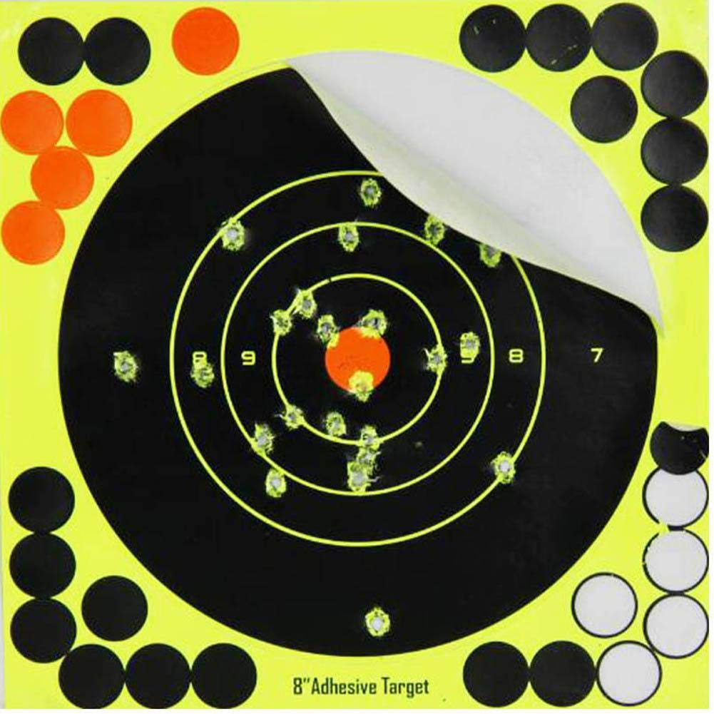 Comaie target house self adhesive splatter /& reactive shooting 10pcs-set 8 X 8 fluorescent color changing targets for pistol rifle airsoft pellet air