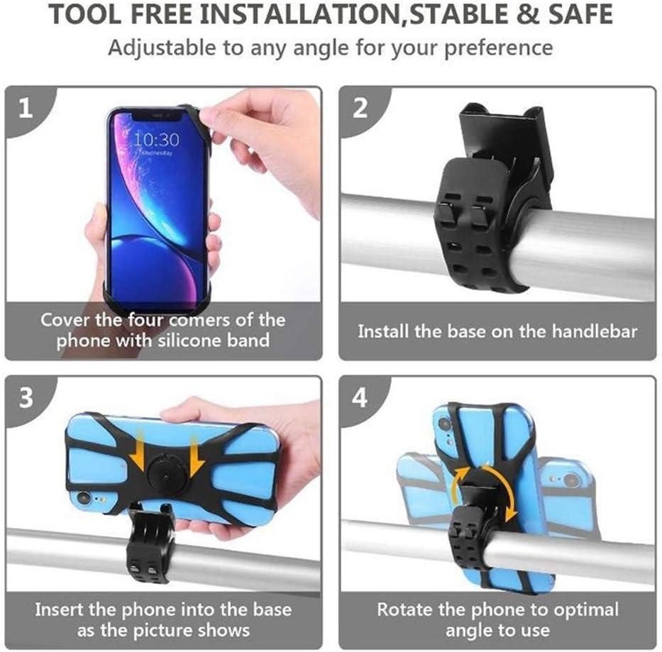 LIJAINFEN Pholder for la Bici Multifunzione 360 Gradi di Rotazione della Bicicletta Phone Holder in Silicone della Bicicletta Porta Cellulare Moto Telefono Mobile Staffa Nuovo