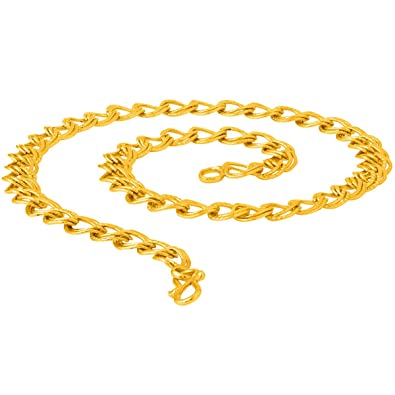 9882140be Thrillz Trendy and fancy Elegant Design gold plated link chain for men    boys  Amazon.in  Jewellery
