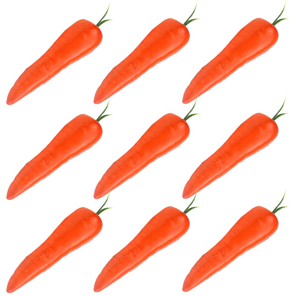 Simla Decor 9 pcs/pack Artificial Carrot Decorative Fake Vegetable Table Accessories(Orange) by Simla Decor