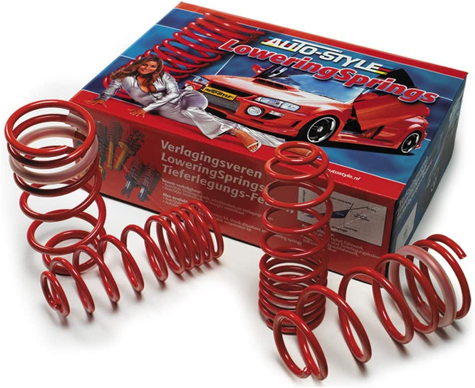 Red AutoStyle 15321 Lowering Springs 35//25 mm