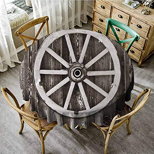 Used, Agoza Barn Wood Wagon Wheel,Tablecloth,55 INCH,Retro for sale  Delivered anywhere in Canada