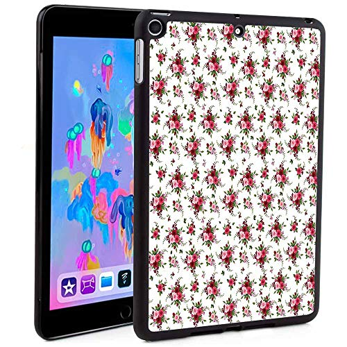 Fintie Case for iPad Mini 5 (2019) / iPad Mini 4,Bridal Bouquets Pattern with Roses and Freesia Romantic Victorian Composition Print for Apple iPad Mini 5th Generation (Custom Pattern iPad case)