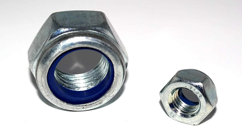 Sechskantmuttern DIN 985 Feingewinde 25 St/ück M12x1,5 mit Klemmteil Stahl verzinkt Klemmmutter Sicherungsmutter Stopmutter
