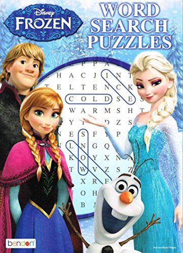 96 Page Disney Frozen Word Search Puzzle Book