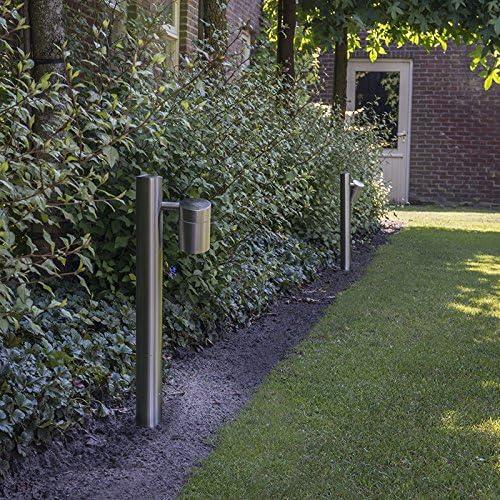 QAZQA Moderno Baliza para jardin SOLO 1 ajustable 35 acero Vidrio/Acero inoxidable Cilíndra/Redonda Adecuado para LED Max. 1 x Watt: Amazon.es: Hogar