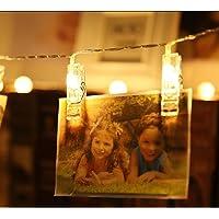 Cordão De Luz Photo Clip Led Com 10 Prendedores À Pilhas 1,65m