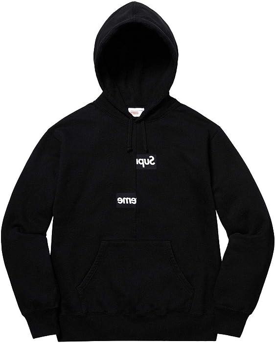 67cb4582be72 SupremeNewYork Supreme Comme des Garcons CDG Split Box Logo Hooded Sweatshirt  Hoodie Black (Medium)