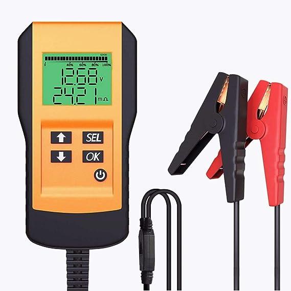 Leicestercn Batterietester Professional Starterbatterie Tester 12v 100 9999 Cca Automotive Batterie Belastungstest Analysegerät Testgerät Digital Analyzer Werkzeug Für Auto Boot Motorrad Auto