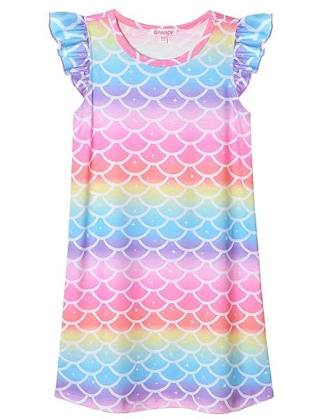 Amazon.com: QPANCY - Camisón de algodón para niñas: Clothing