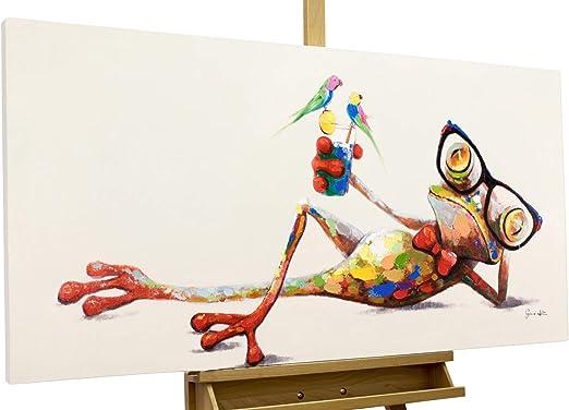 Kunstloft® Cuadro en acrílico Zalamero Verde 120x60cm | Original Pintura XXL Pintado a Mano sobre Lienzo | Multicolor | Cuadro acrílico de Arte Moderno con Marco: Amazon.es: Hogar