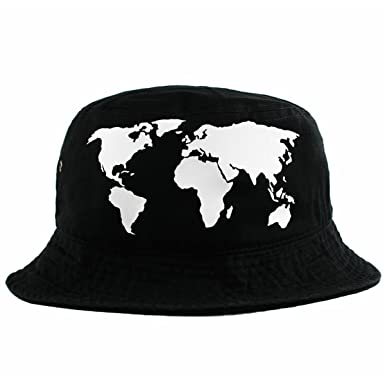 68c460624a3 Agora World Map Bucket Hat  Amazon.co.uk  Clothing