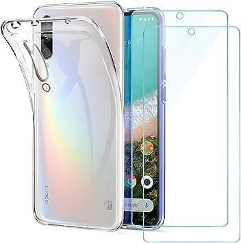 Xiaomi Mi A3 Funda + [2 Pack] Cristal Protector de Pantalla ...
