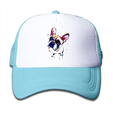 e23a0819af2 OHMYCOLOR Unique French Bulldog Dog Art Kids Adjustable Mesh Hats For Boys  Girls Toddler Cotton Hip