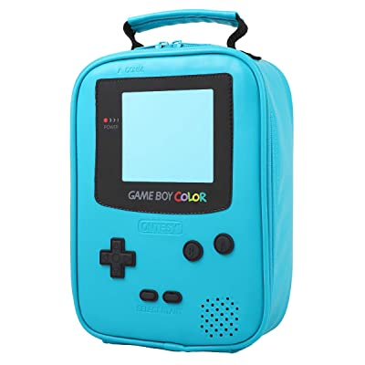 ONTESY Gameboy Leather Lunch Box Reusable Waterproof Thermal Insulated Cooler Bag Toy Bag for Boys Girls Kids Toddlers Teens Men Women (Teal): Kitchen & Dining