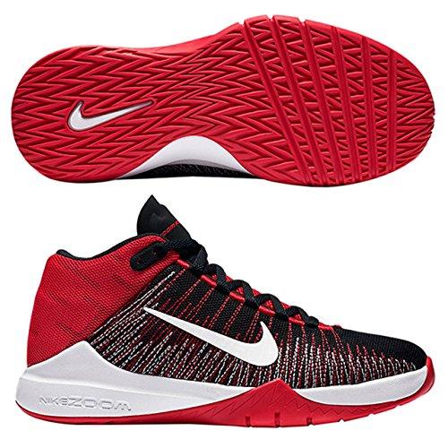 Nike Zoom Ascention (Gs), Zapatillas de Baloncesto para Niños Rojo (University Red / White-Black)