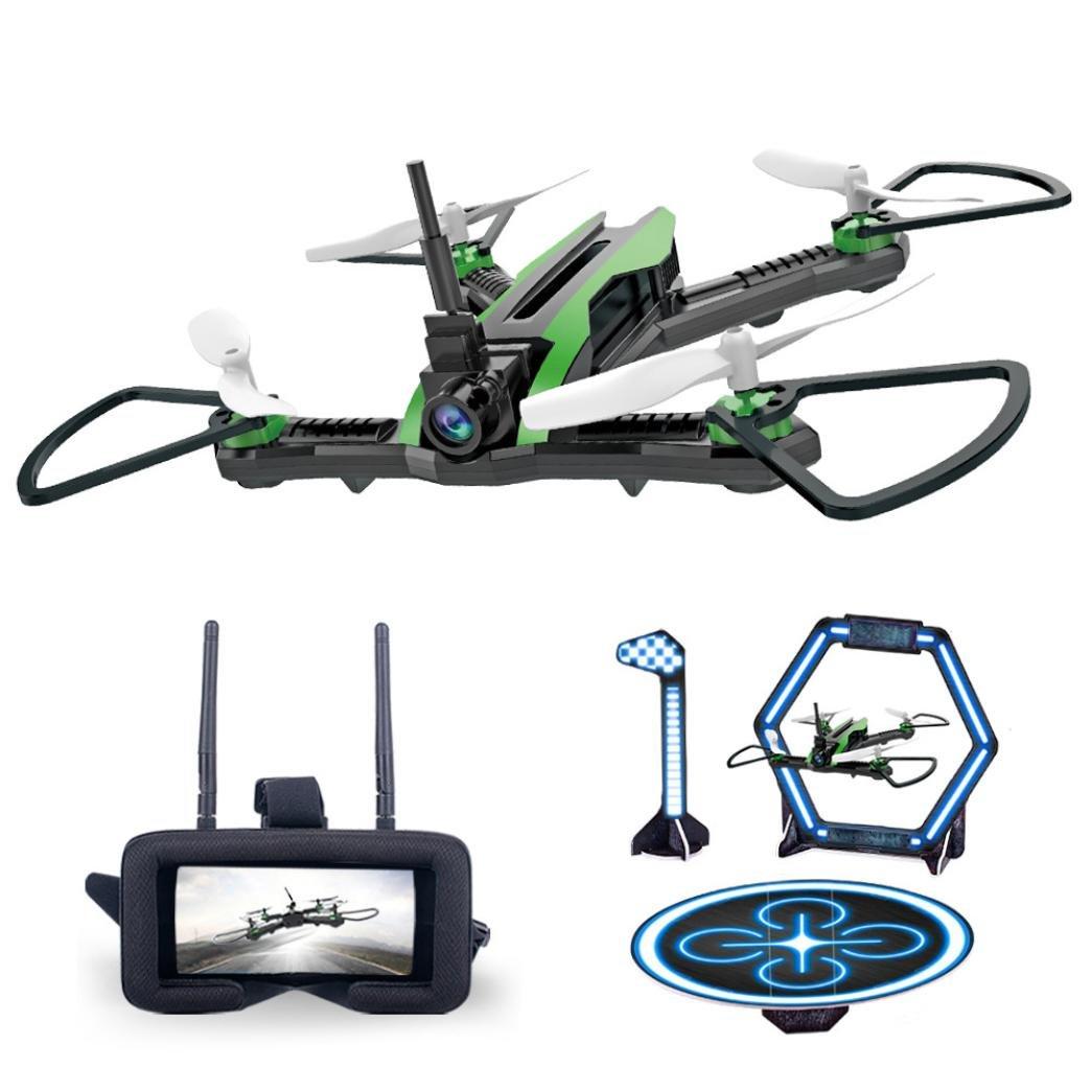 Lanspo Drone, Flytec Flytec Flytec H825 5.8G FPV 0.3MP Weitwinkel-Kamera 6-Achsen-Gyro RC Quadcopter, Über das Vorfeld (Grün) 877d00