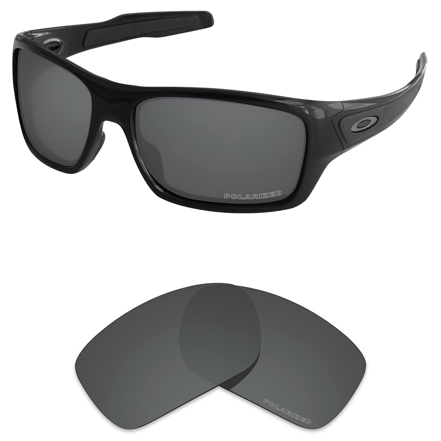 d403397158 Amazon.com  Tintart Performance Lenses Compatible with Oakley Turbine  Polarized Etched-Carbon Black  Clothing