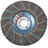 Maslin 10PCS Grit 80 Flap Discs 4''Grinding Wheels Angle Grinder Sanding Discs Abrasive Tool For Metal Wood Polishing - (Grit: 80)