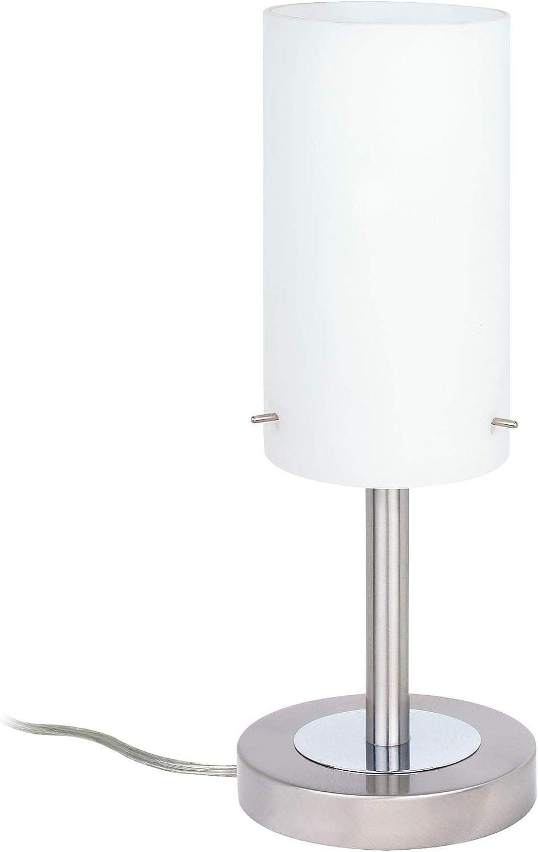 Paulmann Milla Lámpara de Mesa, Máx 60 W E14, 0 W, Níquel, Color blanco, 13 X 13 X 40 cm: Amazon.es: Iluminación