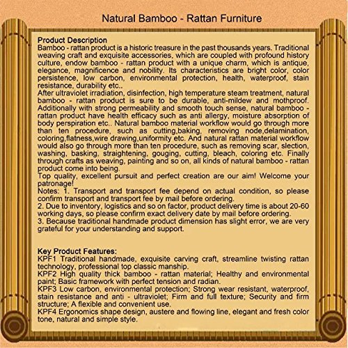 Natural bamboo - rattan wicker desk and chair set / table and chair suite / settee / seater / couch / chair / coffee table / tea table / teapoy / side table / end table by Sungao (Image #2)