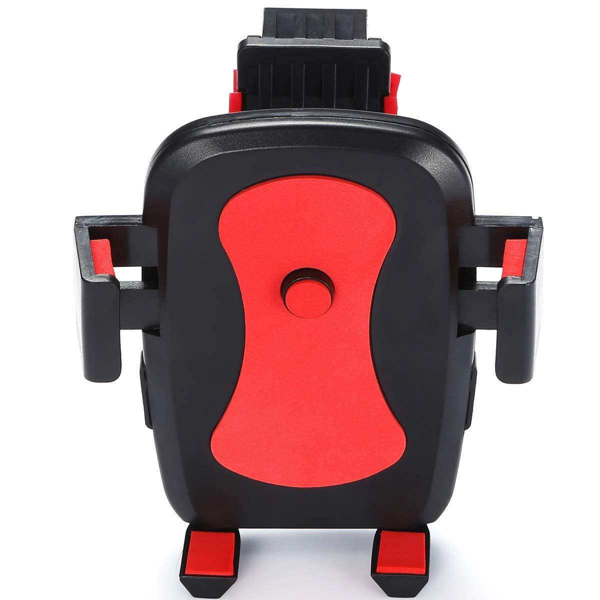 自転車 スマホホルダー バイク ステント マウント 360度調節 振れ止め 脱落防止 スマホ 携帯 固定用 GPS MP4 MP5