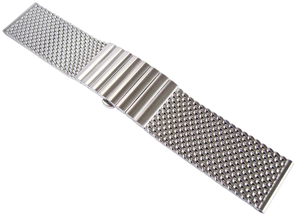 Staib 24mm Matte Mesh 150mm Stainless Steel Mens Watch Band Model 2792 by Staib