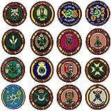 Gemelolandia   Pack Parche militar y Pin de Solapa Operación Balmis España Operación Militar 2020 25 mm   Broche Pin de traje Unidades Militares Españolas   Muy Adherentes   Patch Stickers: Amazon.es: Ropa y accesorios