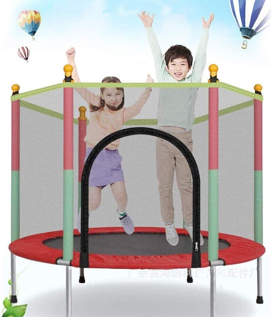 Rishx-lamp Trampolín al Aire Libre, trampolín para niños, trampolín de jardín amueblada Cubierta de colchón Completa Red de Seguridad trampolín de Interior y jardín,A