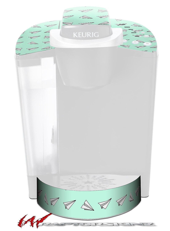 Paper Planesミント – デカールスタイルビニールスキンFits Keurig k40 Eliteコーヒーメーカー( Keurig Not Included )   B017AK4QK2